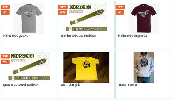 Stemweder Open Air 2020 - Online Shop